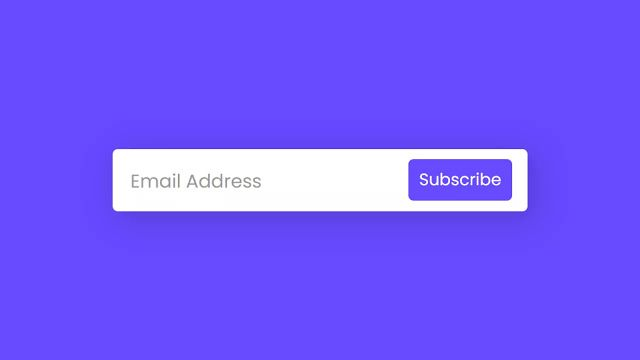 In This Program Email Subscription Form Animation At First On The Webpage There Is A Button W Email Subscription Form Subscription Form Email Subscription