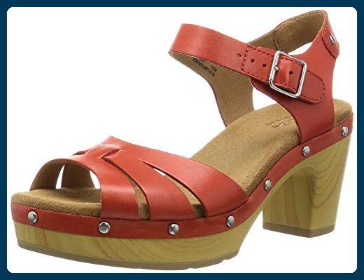Clarks Ledella Trail, Damen Knöchelriemchen Sandalen, Rot (Grenadine Leather), 37.5 EU (4.5 Damen UK) - Sandalen für frauen (*Partner-Link)