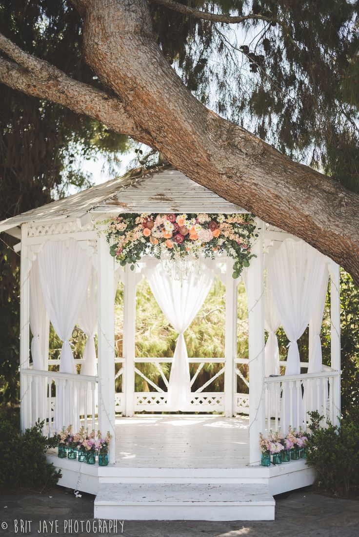 25 best ideas about gazebo wedding decorations on for Wedding venue decoration ideas pictures