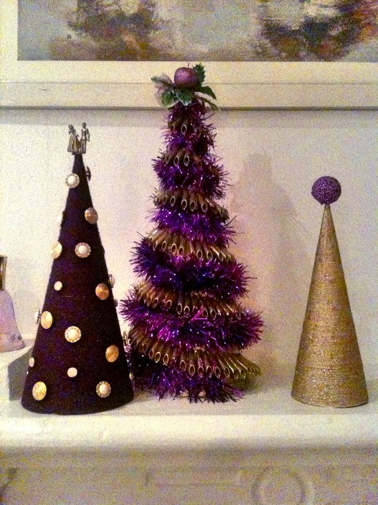 Purple Xmas Cones