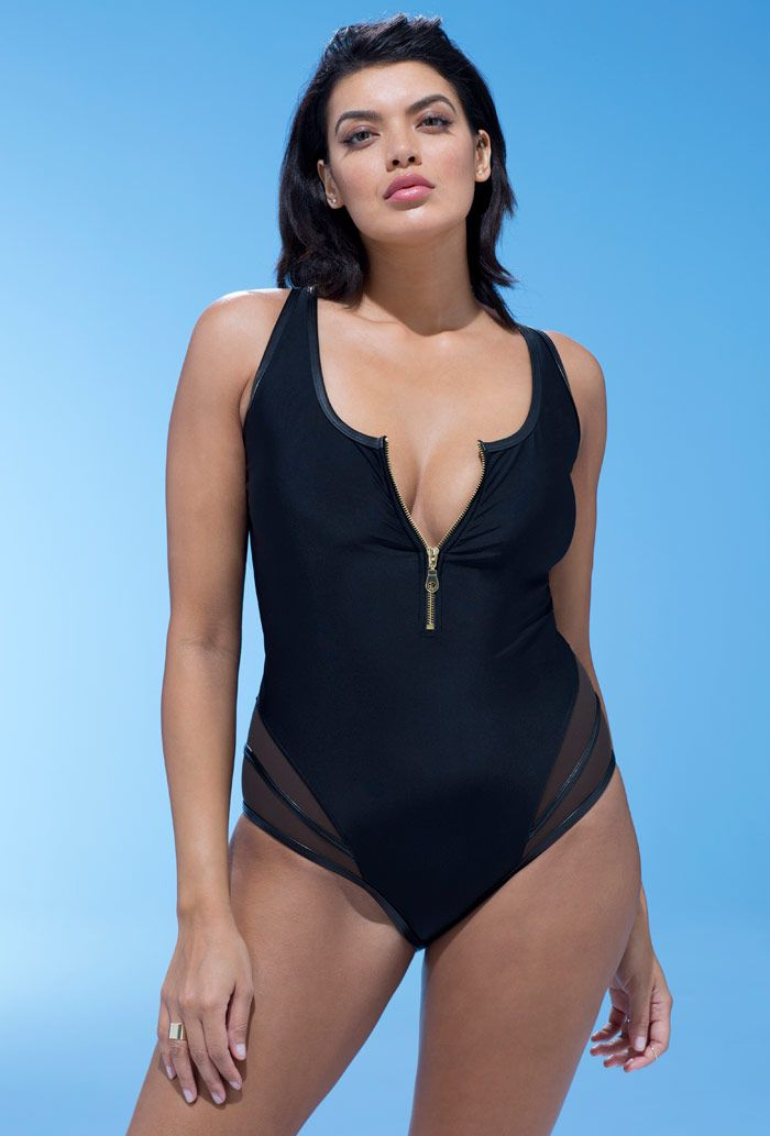 GabiFresh Midnight Zipper Swimsuit
