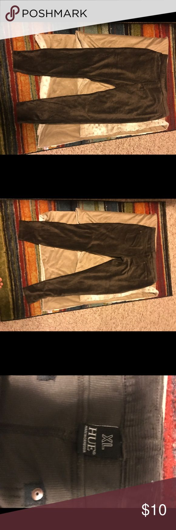 Hue Olive Corduroy Leggings Corduroy leggings. Worn once HUE Pants Leggings