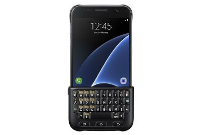 Electronics LCD Phone PlayStatyon: Samsung Galaxy S7 Keyboard Cover – Black