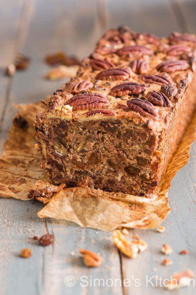 Rozijnencake met dadel, banaan en amaretto | simoneskitchen.nl