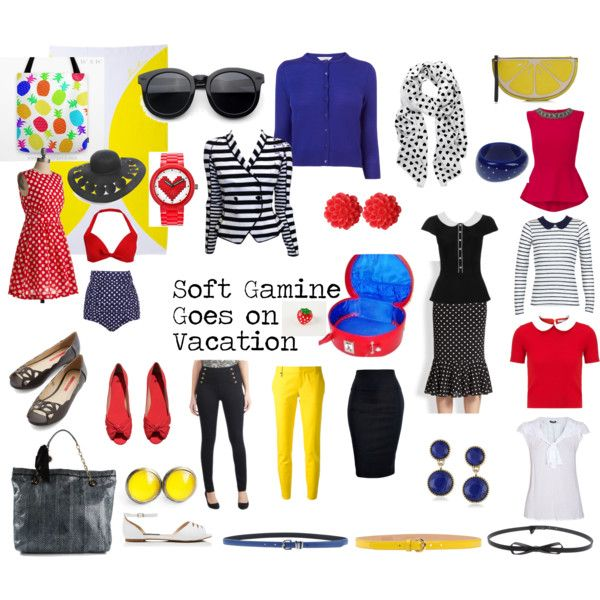 Soft Gamine Goes on Vacation by sarah-longwell-stevens on Polyvore featuring Emily and Fin, L.K.Bennett, Olympia Le-Tan, Morgan, Giorgio Armani, Dsquared2, Lanvin, H&M, Forever New and Lego