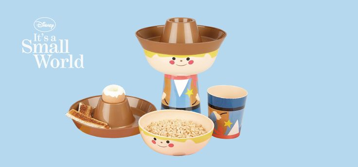 Disney's 'It's A Small World' stacking meal sets sets for children. #design #graphicdesign #branding #productdesign #innovativehousewares #homeware #lifestyledesign #designforchildren #disney #olivermurphydesign