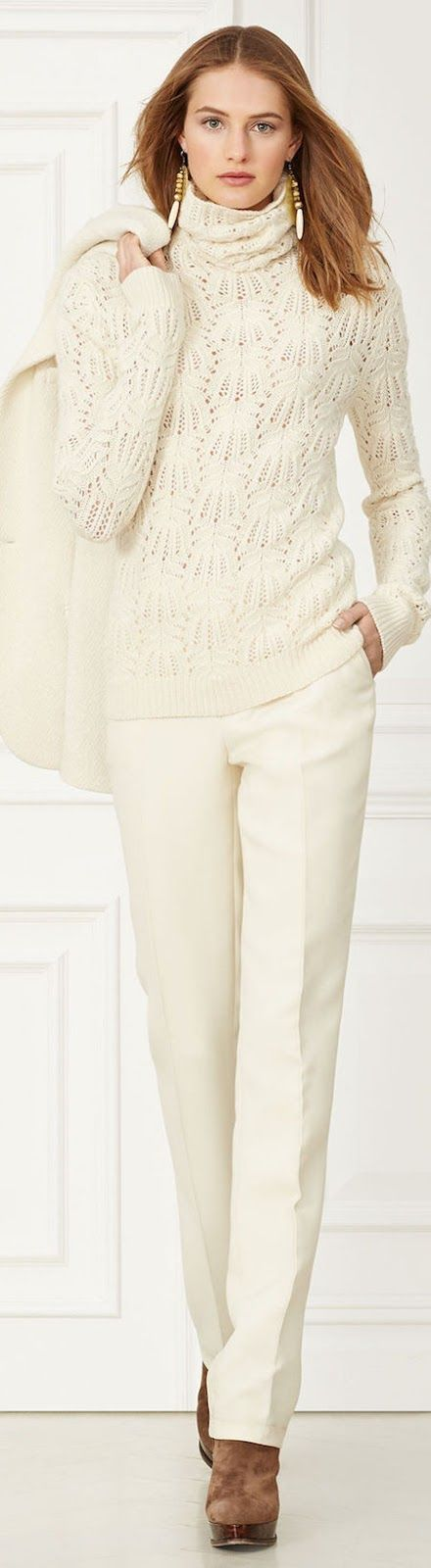 RALPH LAUREN McKAYLA WOOL PANT  Fall 2015