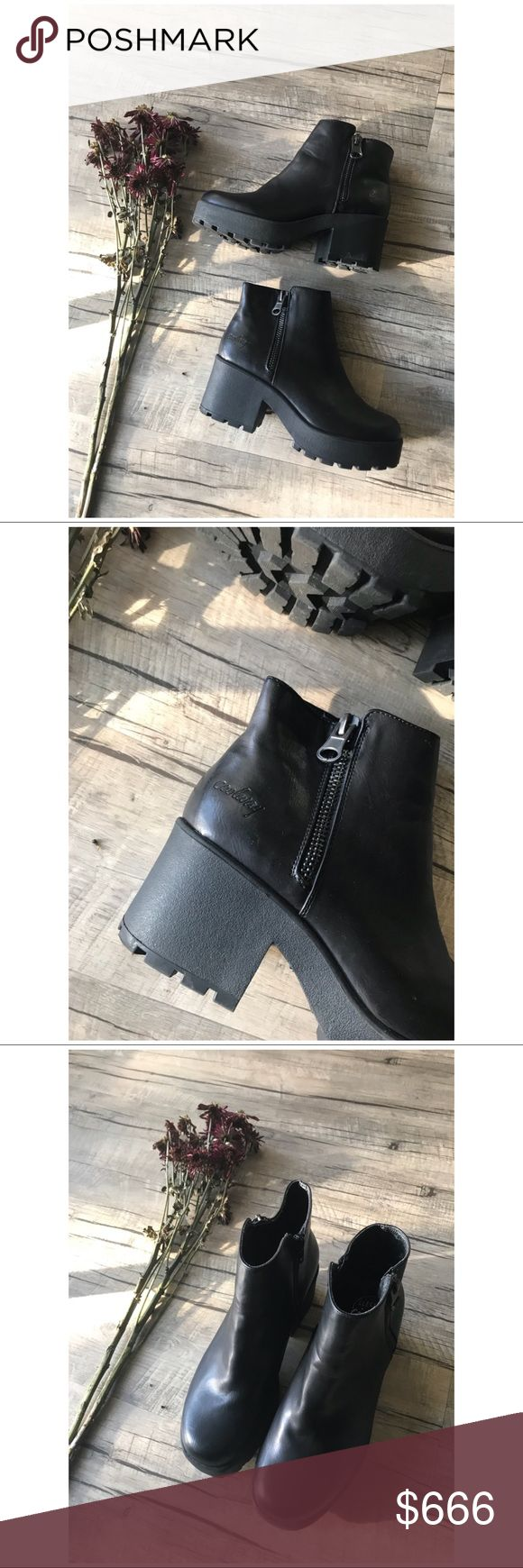 🐰Minimal Vegan Leather Platform Boots// + GREAT condition - (VERY light scuffs)  + Faux leather but very high quality, I've worn this a decent amount of times and they still look fresh as heck  + Run a little wide but are comfy with socks if you have narrower feet   ** This item is priced for quick sale - because of this I will not be modeling or accepting offers. I am real nice about bundle deals **   IF you see the bunny it is buy one get one FREE! Just add your likes to your bundle and I…