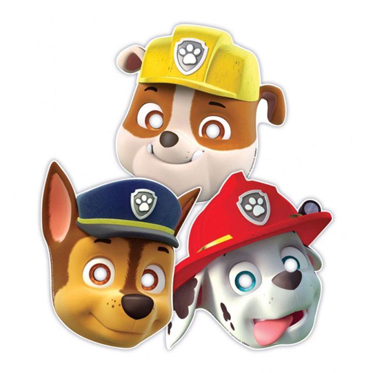 Official Fun Party Paw Patrol 8 Paper Masks With Elastic Attached For Sale Online Ebay In 2021 Paw Patrol Party Supplies Paw Patrol Party Paw Patrol Birthday