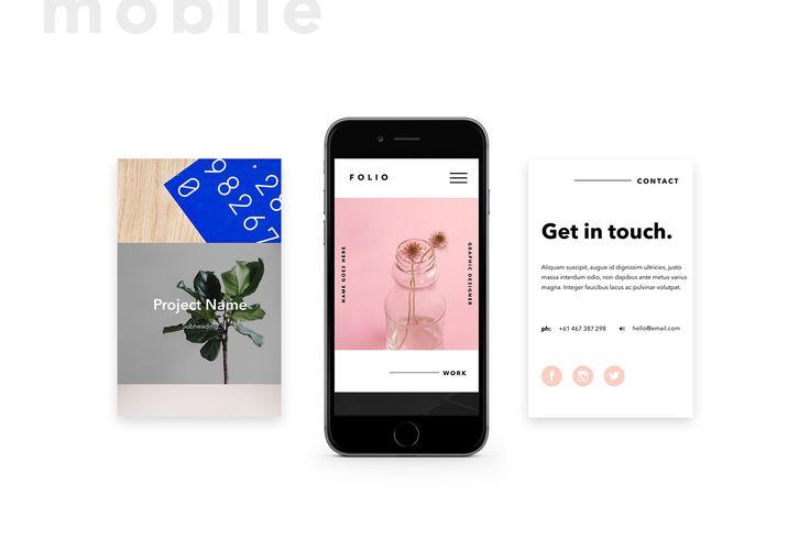 Folio.1 - Adobe Muse Template on Behance