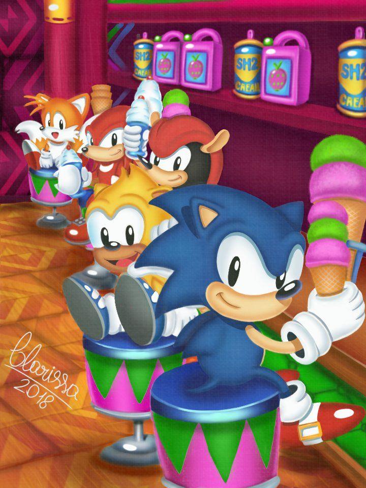 Clarissa On Classic Sonic Hedgehog Art Sonic The Hedgehog