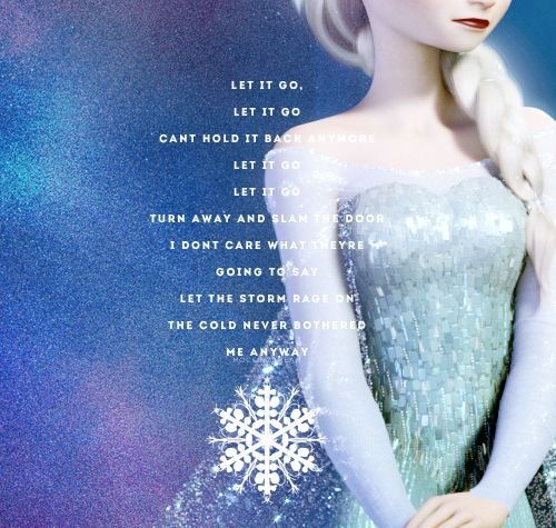 I can still hear Idina Menzel singing this song and still see Elsa creating that gorgeous ice bridge <33