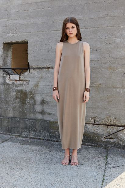 SIDE PANELED LONG DRESS D028 BRACELET AC015