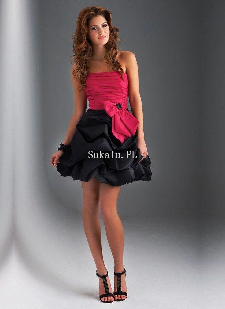 Bez ramiączek Dekolt Bowknot Decoration Linia A Sukienki Koktajlowe