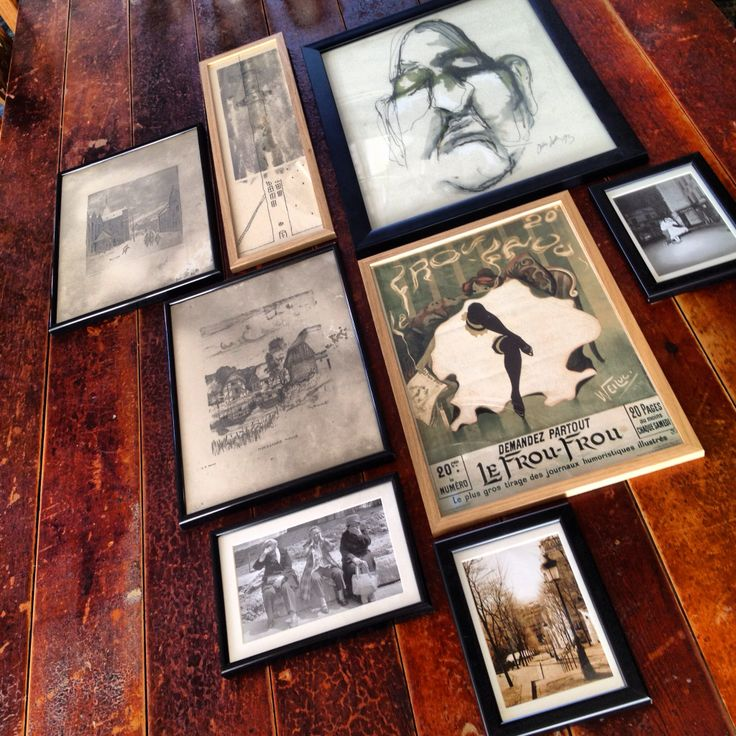 Nice photos and sketches from both Paris and Aarhus - now hanging in our dining room...