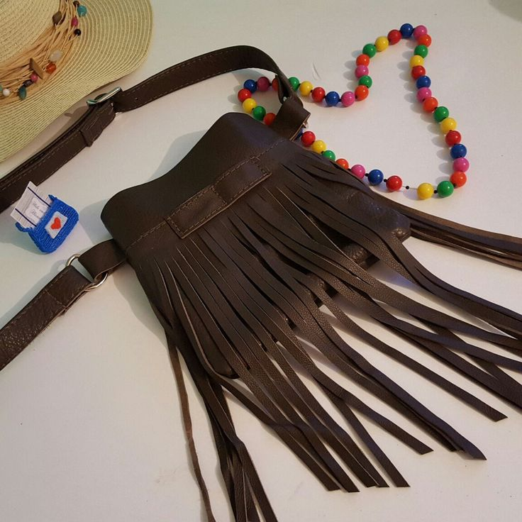 Fringed hip bag now available in this indulgent chocolate brown