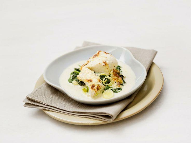 Gratinert lettsaltet torsk med spinat - Sunn og god fiskeform til hverdag og fest!