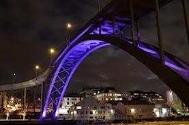 Risøysund bridge at night
