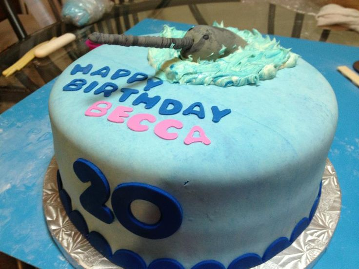 Narwhal Cake For My Daughter Becca Cakes Pinterest