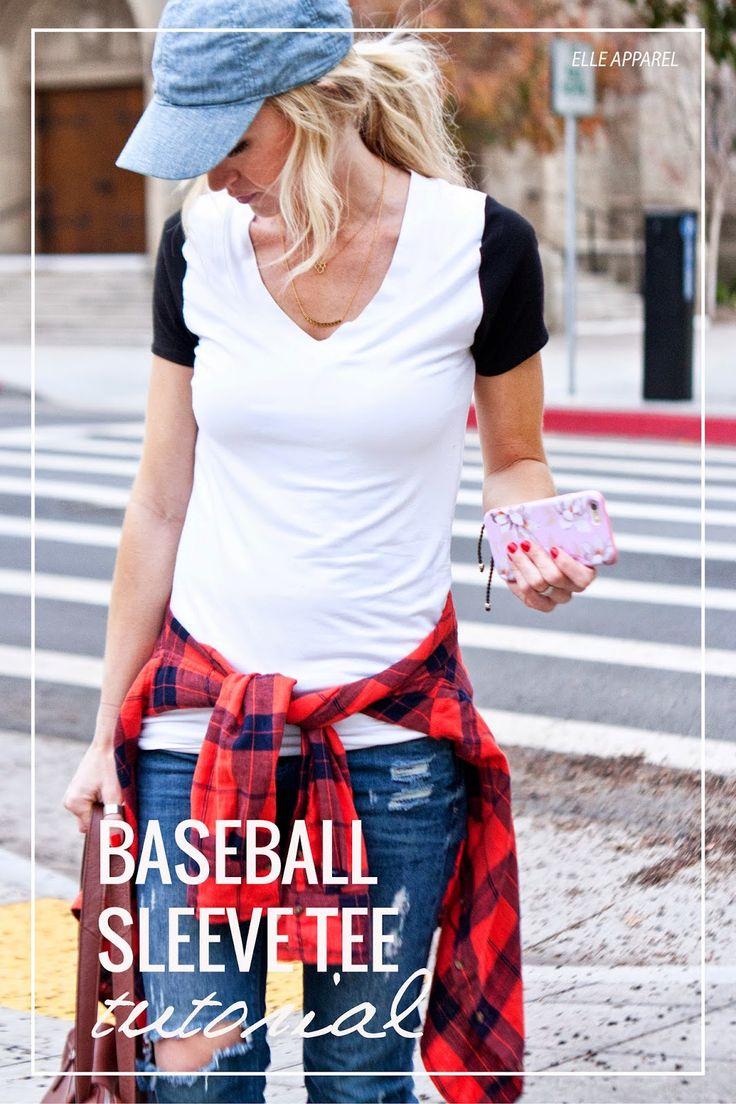 Baseball Tee Sleeve Tutorial