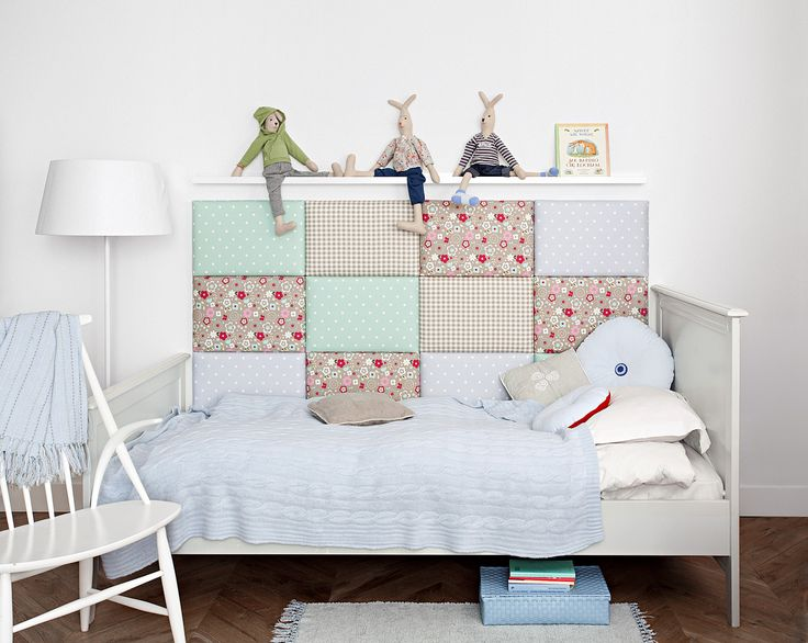 madeforbed.com modular headboards, kid's bedroom, patchwork