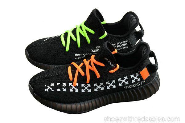 d7f56675c861 Off-White X adidas Yeezy 350 V2 Yeezy Core Black Orange Volt ...