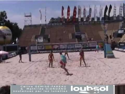 """Video Beach Volley féminin PARIS  world series"""
