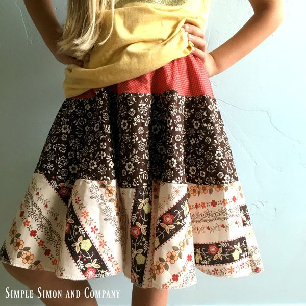 Super Easy DIY Tiered Skirt - Simple Simon and Company