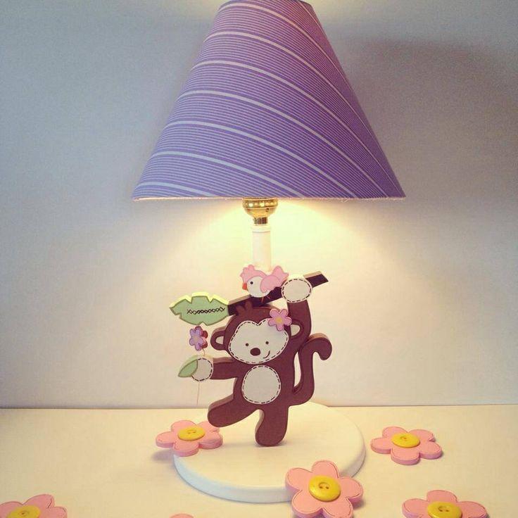 Country madera painting lamp