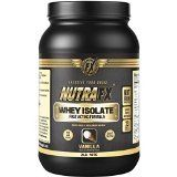 Whey Protein Isolate {Vanilla} Flavor Contains Essential Amino Acids  2lb  24g Protein Per Serving  33 Servings  Post Workout Recovery Drink  Best Whey Protein Powder by NutraFX