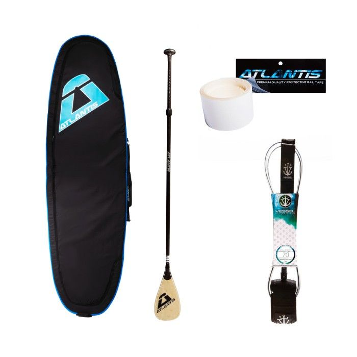 BONUS PACK - STAND UP PADDLE BOARD $474.00 Perfect starter-pack to go with a new SUP.  This pack is available with any SUP purchase and includes board cover, paddle, leash and protective rail tape.