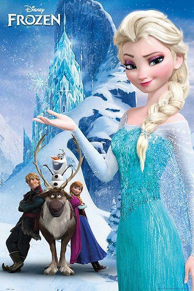 Póster Frozen: El Reino del Hielo, la Montaña Estupendo póster con la imagen de los personajes principales de la película de animación Frozen: El Reino del Hielo.