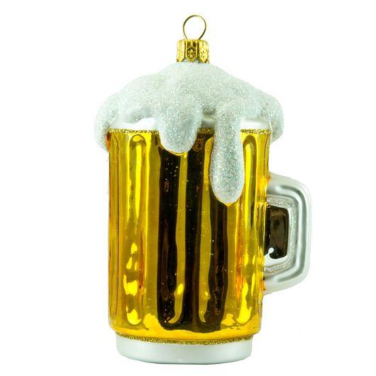 Boże Narodzenie - ozdoby choinkowe-Bombka Kufel z Piwem
