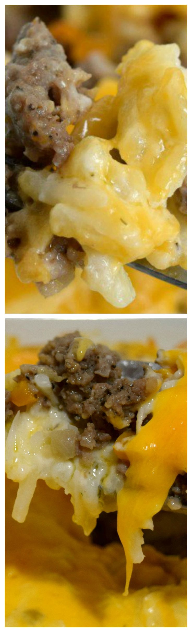 Cheesy Sausage & Hash Brown Casserole ~ So delicious... Perfect for dinner, potlucks or as a holiday addition.