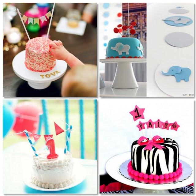 cute little smash cakes