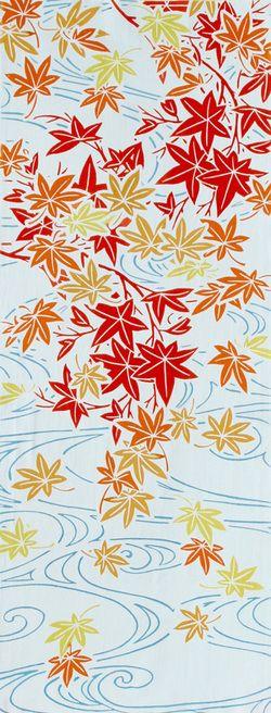 [和布華(わふか)]手ぬぐい流水もみじ日本手拭い(てぬぐい)メール便送料無料♪手ぬぐい専門店「わざっか本舗」