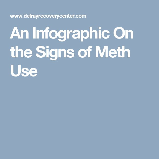 An Infographic On the Signs of Meth Use