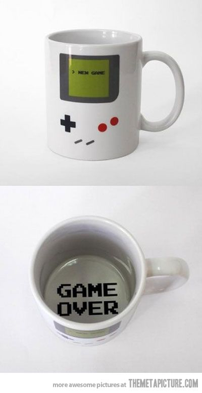 Gamer mug. Want!!!: Old Schools, Stuff, Videos Games, Games Boys, Memorial Mugs, Coffee Cups, Things, Coffee Mugs, Gameboy