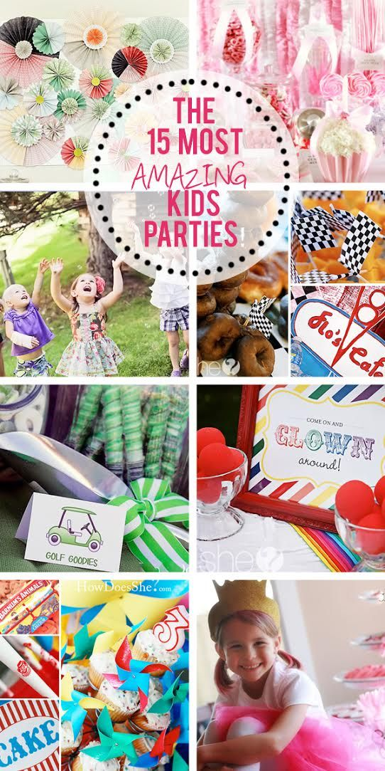 Check out the 15 most amazing kid parties!
