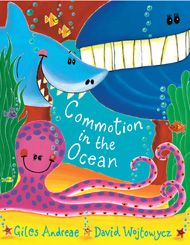 This chunky board book edition of a bestselling picture book is packed with favourite sea creatures. So come into the ocean for a noisy, rhyming animal romp your little ones will love