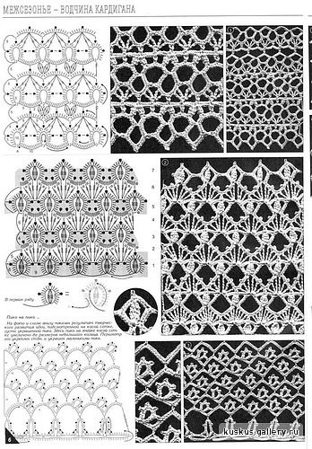 Dainty Tatting Lace Pattern (the 3rd row images) . This can be used as a narrow to broad edging/border as well, or for a stand-alone larger project. .... *i*