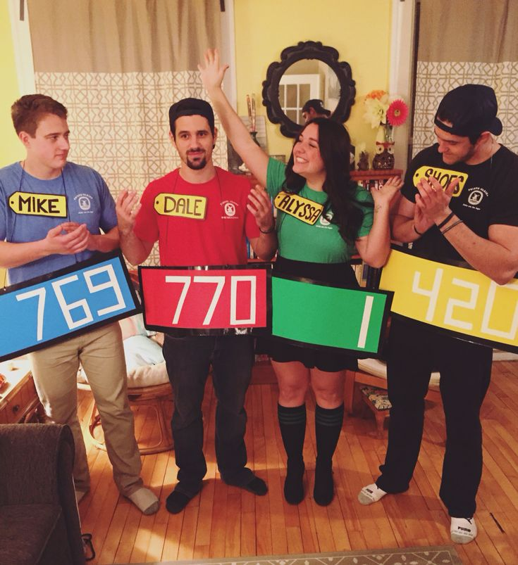 easy diy price is right group costume - Halloween Outfits Pinterest