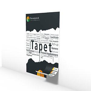 Tapet, produceres i ruller af 45 cm. i bredden, køres på 150 gr. tapet papir Varitess - VIGTIGT: Der skal bestilles minimum 5 meter