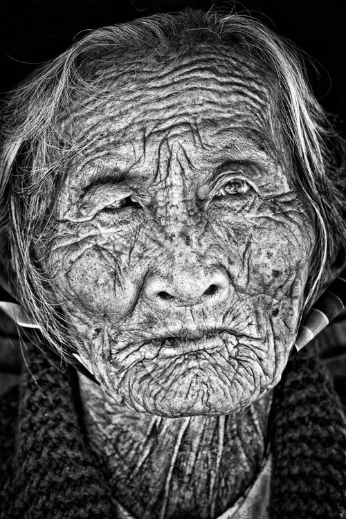 """Indochina - The stories she could tell """"Beautiful young people are accidents of nature, but beautiful old people are works of art."""" - Eleanor Roosevelt"""