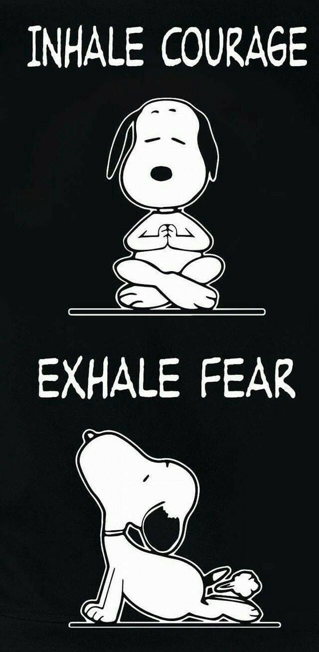 Breathing exercise. Inhale courage and exhale fear! Pass by my blog for encourag… – Monique Drew-Mclaren