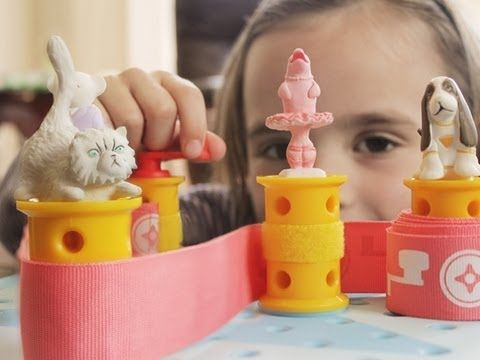 "Very cute engineering (spatial) toy for little girls to play with and create a ""sprinning maching"" by following a story"