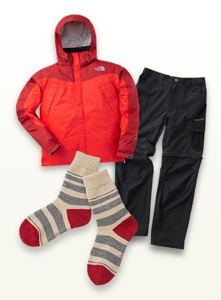 まずはここから、基本の登山ファッションアイテム