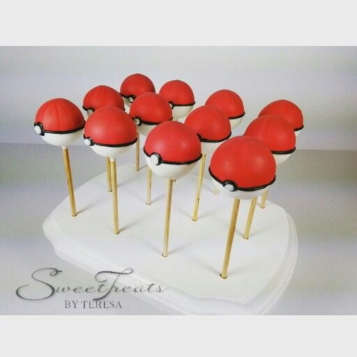Pokemon Cake Pops Sweet Treats By Teresa Pinterest Pokemon Cake Pops Cake Pop And Cake