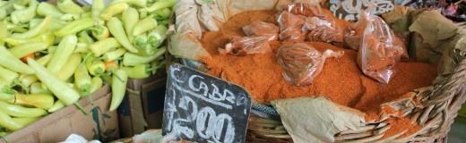 Traditional spices at the La Vega produce market, Santiago de Chile