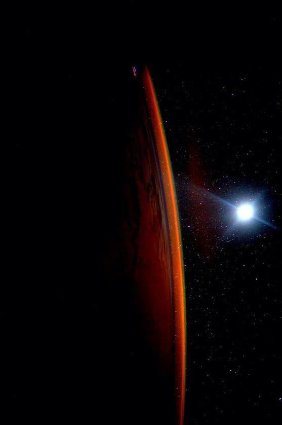 "#Earth Looks Like #Mars! | International Space Station Scott: ""Day 136. I often imagine Mars, especially when Earth looks like this.""  Credit: NASA/JSC, U.S. Astronaut Scott Kelly Date: August 10, 2015  +Scott Kelly  +NASA Johnson Space Center"